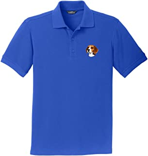 Cherrybrook Brilliant Blue Dog Breed Embroidered Mens Polo Shirts (All Breeds)