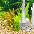 Intelligence Aquarium CO2 Diffuser, Stainless Steel Aquarium CO2 Regulator with U-Shape Connecting Tube, CO2 Atomizer System CO2 Bubble Counter for Aquarium Plants