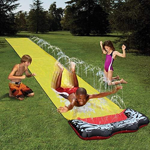 Peony Tobogán de Agua Jardín Resbaladilla de Agua para niños - Resbalón y tobogán de PVC Duradero - 4.8X0.7cm