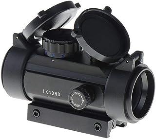 Tactical Area Mira de Punto Rojo y Verde de Airsoft con Montura de riel Picatinny de 11 mm-20 mm y Tapa de Lente abatible