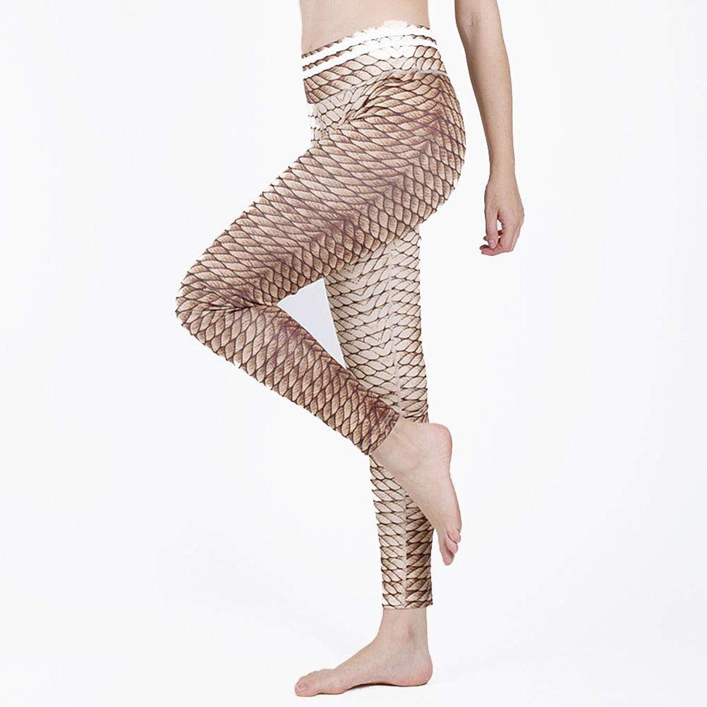 Yoga Workout Leggings Pants Women's Yoga Pants Print Peach Hip Yoga Fitness Leggings Sweatpants (Size   L)