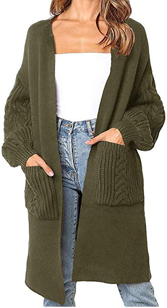 Long Sleeve Shirts for Women,Womens Fashion Solid Cardigan Long Sleeve Halloween Loose Fit Knitted Coat Sweaters