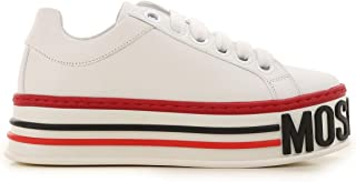 Moschino Luxury Fashion Womens MA15045G18MF010A White Sneakers | Fall Winter 19