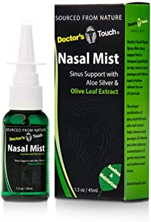 Doctor's Touch Nasal Mist Sinus Support with Aloe,Colloidal Silver and Olive Leaf Extract