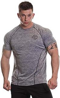 Gold's Gym Men's Workout Training Short Sleeve Tee Performance Marl Raglan Sleeves T-Shirt