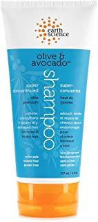 Earth Science Olive & Avocado Shampoo with silk protein, argan oil & shea butter — color safe, sulfate free, 6 oz.