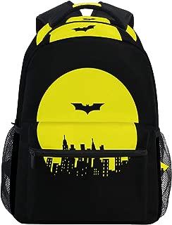 Fashion Laptop Backpack,Black Batman Shoulder Bag for High School/College Student,Travel Bag,14Inch Laptop Sleeve,Perfect for Men and Women