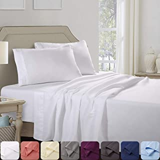 Abakan Full Bed Sheets Set Extra Soft Silky Smooth Microfiber Hotel Luxurious Premium Cooling Sheets Breathable, Wrinkle, ...