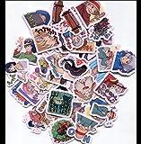 OJVVOP Line Emoji Sticker Hal'S Moving Castle Selbstgemachtes Handbuch Album Anime Sticker 40 Blatt