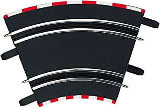 Carrera 61612 1/45 High Banked Curve Track Section Part for Use with GO!!! and Digital 143 - Pack of 4