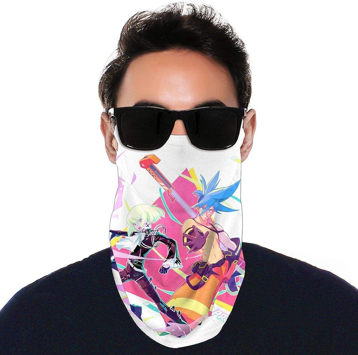 SIPONE Washable Men's & Women's Promare Reusable Multiuse Bandanas Neck Gaiter Print Mask
