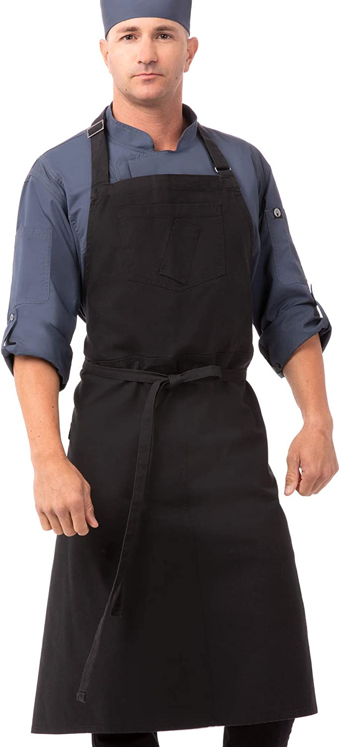 Chef Special price Works Unisex Rockford Chefs Gray Bib Apron Max 80% OFF Steel 0