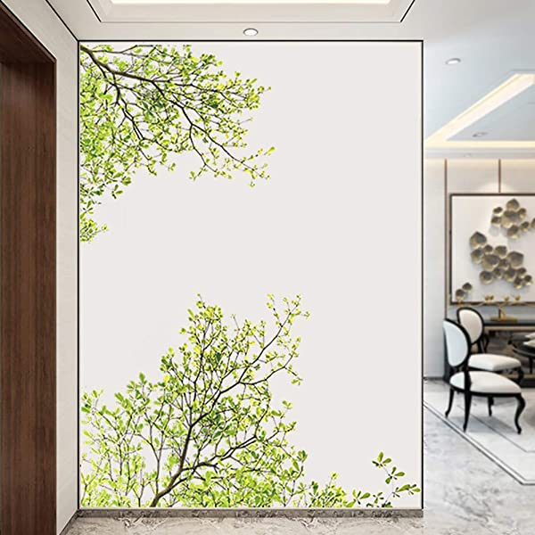 Potelin Green Tree Branch Mural Art Removal Wall Sticker DIY PVC Decal Kids Room Decor Durable And Useful