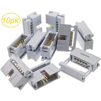 "5Pcs 2.54 mm 0.1/"" Pitch 2x7 Pin IDC 14 broches mâle Box Header Câble plat Connecteur"