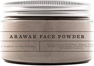 CreekBaby Organic Arawak Face Powder for Sensitive Skin, Tinted Loose Powder, Medium/Nude Shade