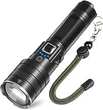 (Neues Upgrade) Helius led taschenlampe extrem hell wiederaufladbar,Super Helle 10000 lumen usb taktische flashlight,5 mod...