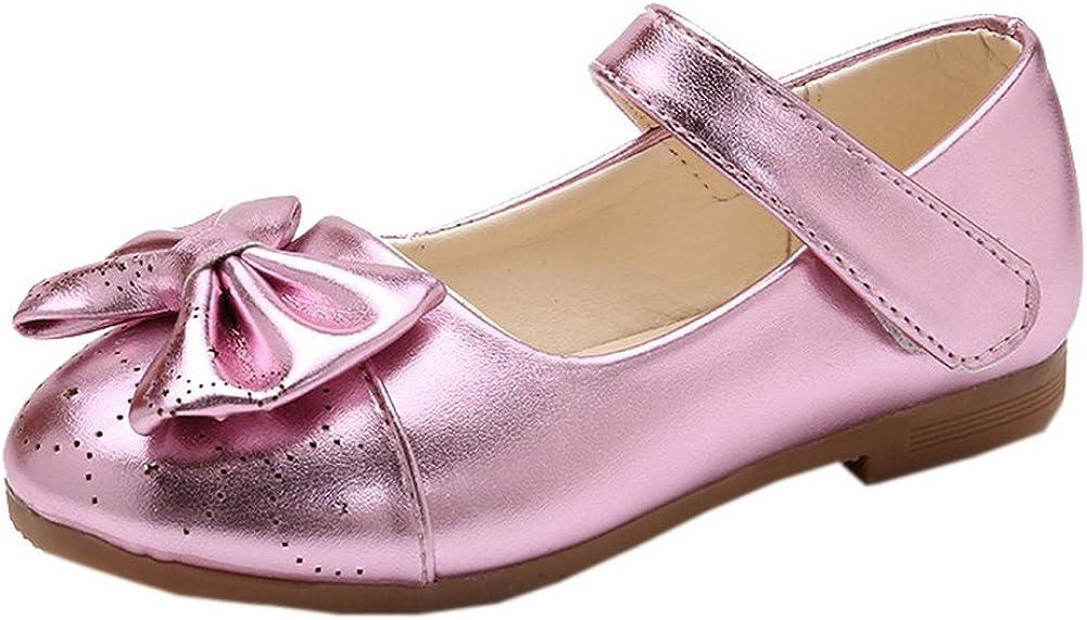 Vokamara Bow Mary Jane School Ballerina Flat Shoes (Toddler/Little Kid)