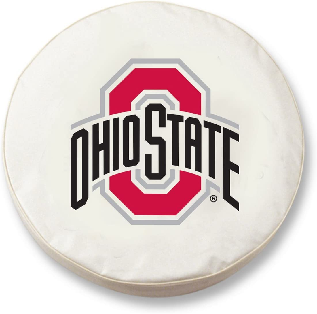 Holland Bar Stool Co. Topics on TV Ohio State HBS White Fitted Mail order Buckeyes Vinyl