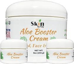 Aloe Vera Cream Face Moisturizer - Skin Healing-Rosacea, Psoriasis Lotion - Aloe Booster Cream-Skin By Kay (9 Ounces and 2...