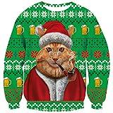 Goodstoworld Sueter navideño Familia Navidad Ropa Hombre Mujer Jerseys Pereza 3D Ugly Christmas Sweater Ropa Divertida Traje XXL