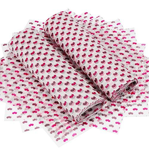 TsunNee - Papel para envolver alimentos, papel encerado impermeable a prueba de aceites, envoltorio para regalos, manualidades, para envolver pasteles, queso, turrón, chocolate, 25 x 22 cm