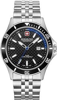 Swiss Military Hanowa - Reloj Analógico para Unisex Adultos de Cuarzo con Correa en Acero Inoxidable 06-5161.2.04.007.03