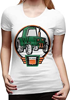 EVEKENNEDY Little Oliver Tractor Driver Women's Graphic T-Shirts Summer Short Sleeve T-Shirts Casual Tees