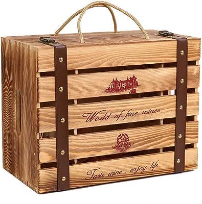 Amazon.com: Caymus Wine Crate - 6 Bottle Decorative Wooden ...