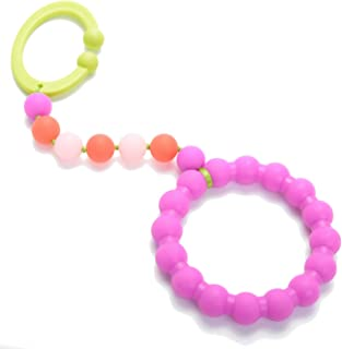 Chewbeads - Gramercy Baby Teething Car Seat Toy and Stroller Toy (Pink). 100% Safe Silicone Infant Teething Toy for Car Seats and Strollers. BPA-Free. Metal-Free. Phthalate-Free.