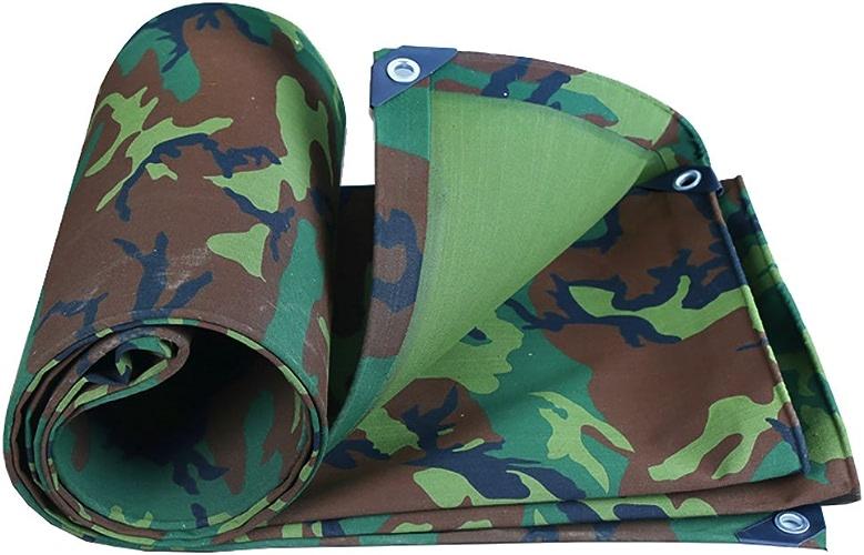 LPYMX Refuge de Camping Bache, Toile bache imperméable à l'eau Camping Mat Haute température Anti-vieillissement Tente Tissu Camion Couverture, Camouflage (Couleur   A, Taille   5  6m)