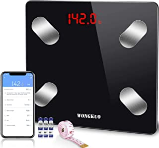 WONGKUO Scales for Body Weight Digital Bathroom Weight Scale Body Fat Scale Smart Bluetooth Scale for BMI Body Composition Monitor Health Analyzer with Smartphone APP