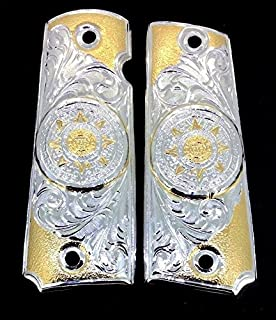 Blanca's Jewelry 1911 .925 Silver Government Commander Gun Grips Aztec Calendar Cachas