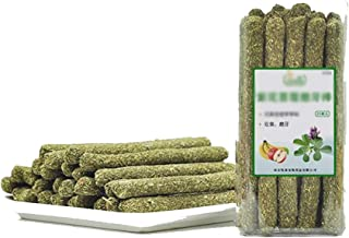 25pcs Natural Timothy Hay Grass Stick Molar Rod Small Animals Pet Snack Toys for Rabbit Hamsters Guinea Pig Chinchillas Sq...