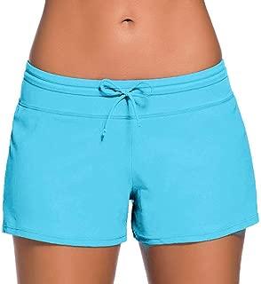 Women's Swim Boardshorts Tankini Boyshorts Beach Bottom Swimsuit Built in Briefs