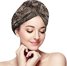 BATH LOVE Brooklyn Bridge Sunset NYC View Skyline Tourist Attraction Modern City Head Wraps for Women Shower Cap Anti-Frizz Absorbent Twist Drying Shower Towel Hat