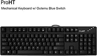 Inland 104 Keys Mechanical Keyboard with Blue Switch (70012) (Renewed)