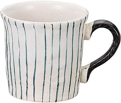 山下工芸 マグカップ 陶器 φ9.3×9cm(350cc) 手描ルリ十草マグ 15055180