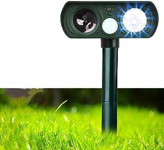 Mumoo Bear Dog Repellent, Outdoor Solar Powered & Weatherproof Ultrasonic Dog/Cat/Mosquito Repeller, Green