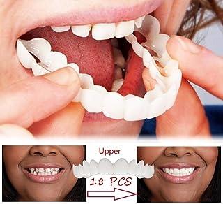 快適なベニヤシリコーン歯18ピースシリコーンシミュレーションブレース上段パーフェクトスマイリーフェイス修正歯天然歯口腔上部義歯ケア