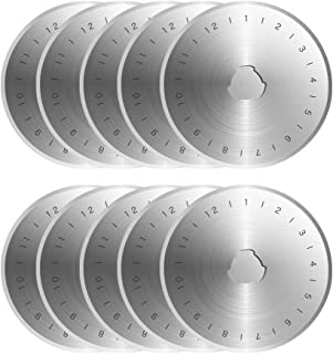 Kingsource SKS-7 Titanium Coated 10 Packs 60mm Pack Rotary Cutter Blades Replacement for Fits Olfa, Fiskar, Martelli, True...