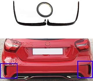 Car Styling Glossy Canard Splitter Wing for Volkswagen POLO MK5 2011-2017 ACEOLT ABS Rear Window Side Spoilers for VW Polo MK5 2011-2017