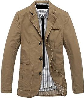 MEINO Men's Casual Twill Suit Outerwear Light-Weight Cotton Blazer Jacket