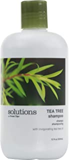 Solutions by Great Clips Tea Tree Shampoo 12oz | Natural Dry Scalp & Dandruff Treatment with Essential Oils | Nourish and Stimulate Scalp | For All Hair Types