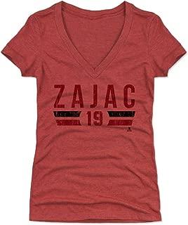 500 LEVEL Travis Zajac Women's Shirt - New Jersey Hockey Shirt for Women - Travis Zajac Font
