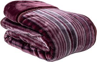昭和西川 2枚合わせ毛布 1.8kg 洗える 衿付き シングル 140×200cm レッド 87190104 41 (72013)