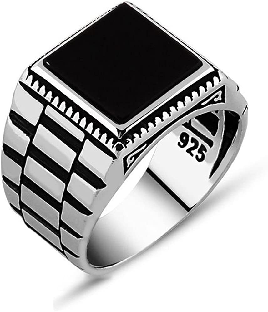 chimoda Mens Super intense SALE Solitaire Silver Rings 925 Men's Jewelry Sterling Max 68% OFF w