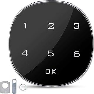 Serrure d'Armoire, 1 à 15 Chiffres à Écran Tactile Numérique par Mot de Passe Électronique Codé Serrure à Combinaison Port...