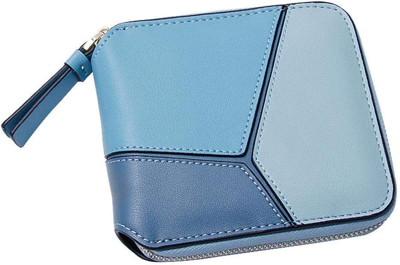 Girls Purse Women's Wallet,Lady Purse PU Leather Wallet Women's Mini Zipper Lady Small Change Bag Multifunctional (color   C)