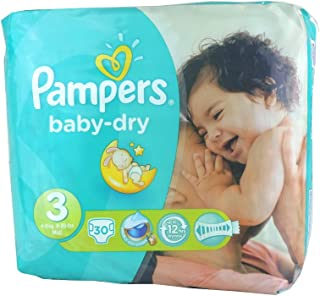Pampers Baby Dry Size 3 Midi 4-9kg (30 per pack)