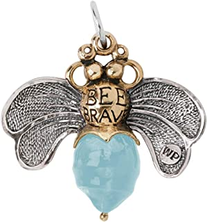 Bee Brave Sterling Silver, Brass and Aqua Resin